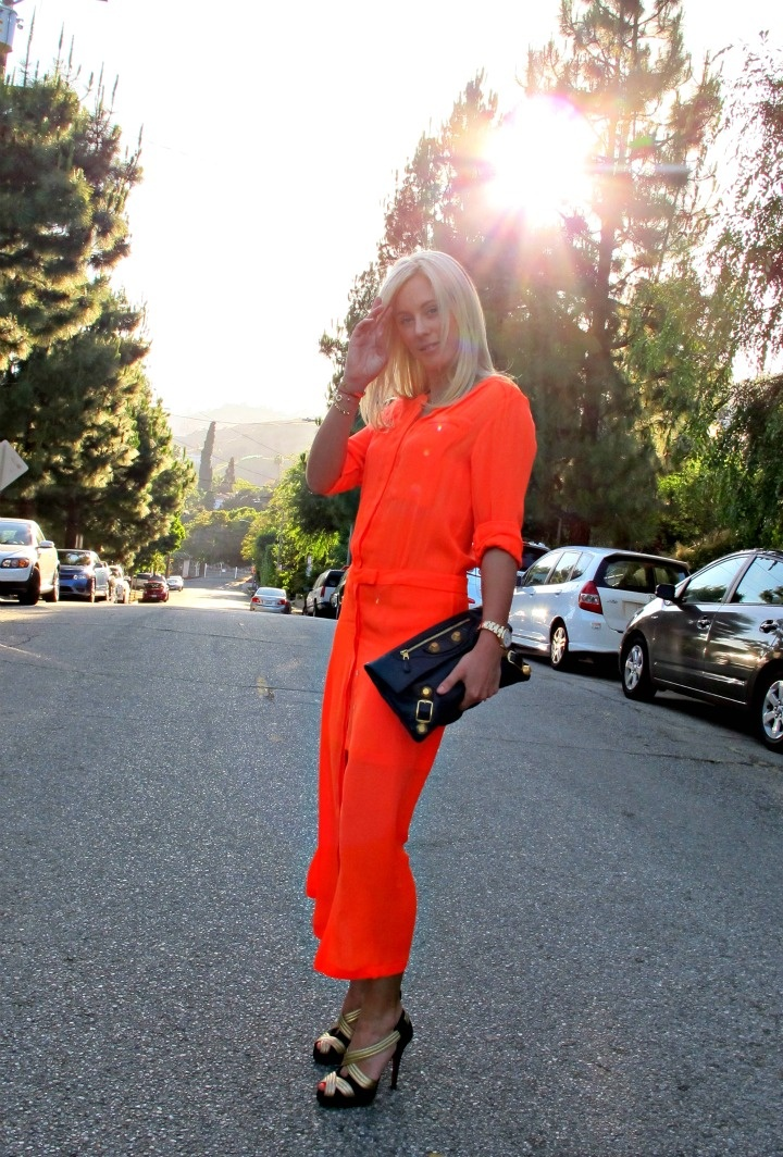 orange neon dress trend Dresses That Make Your Eyes Hurt!?
