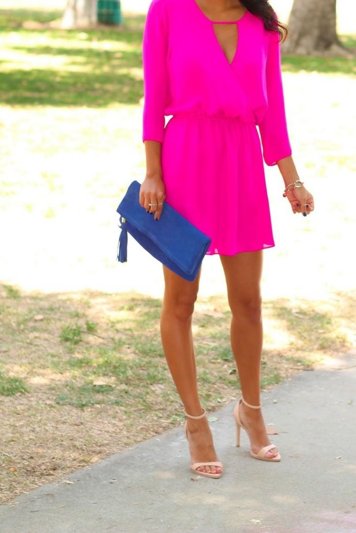 pink neon dress street style Dresses That Make Your Eyes Hurt!?