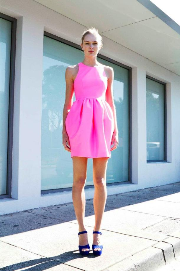 pink-neon-dress-style