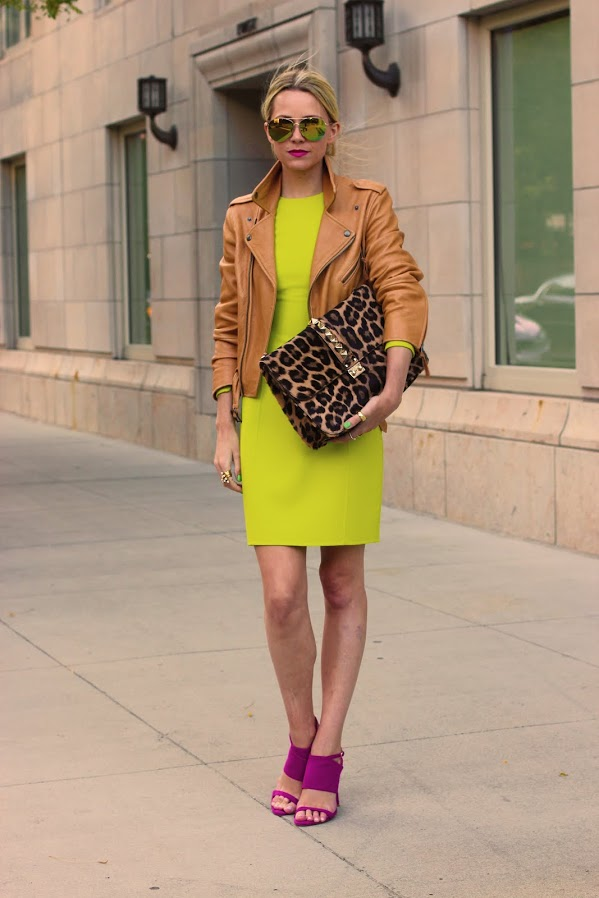 street style neon dress Dresses That Make Your Eyes Hurt!?