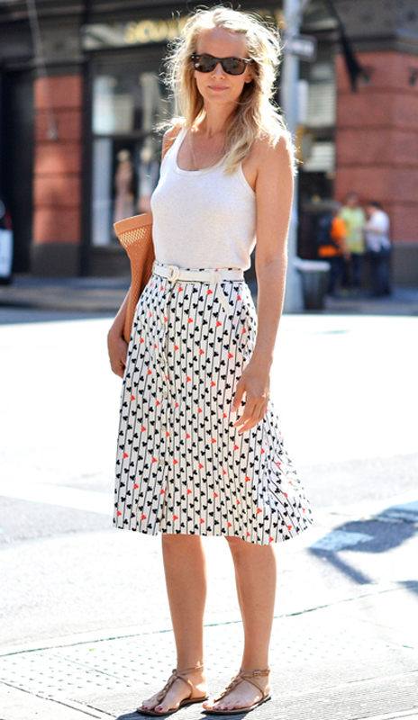 tank top skirt look Tank Tops: Whats Your Style?