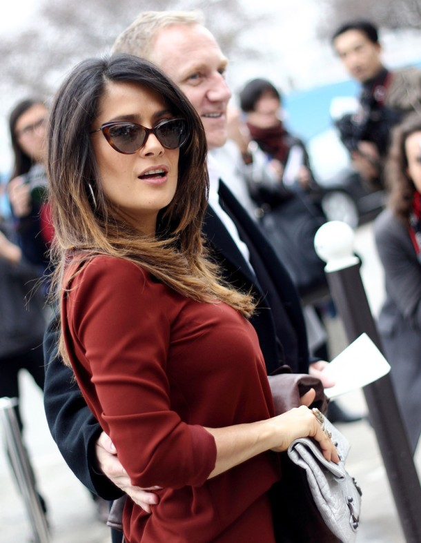 Salma+Hayek-Cateye+Sunglasses