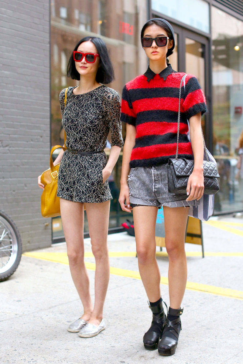 shorts-and-long-sleeves-look-street-style