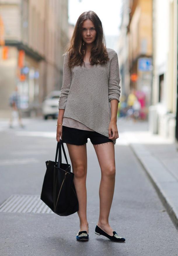 shorts-long-sleeve-top-streetstyle