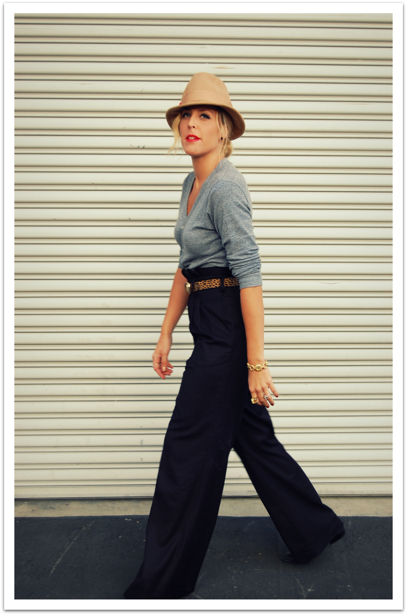 A striped patch pocket adds a sporty touch to these nautical-inspired wide-leg pants while genuine mother-of-pearl buttons add a refined finishing touch. High rise. Intended to hit at the ankle. US size 8 has a 31½