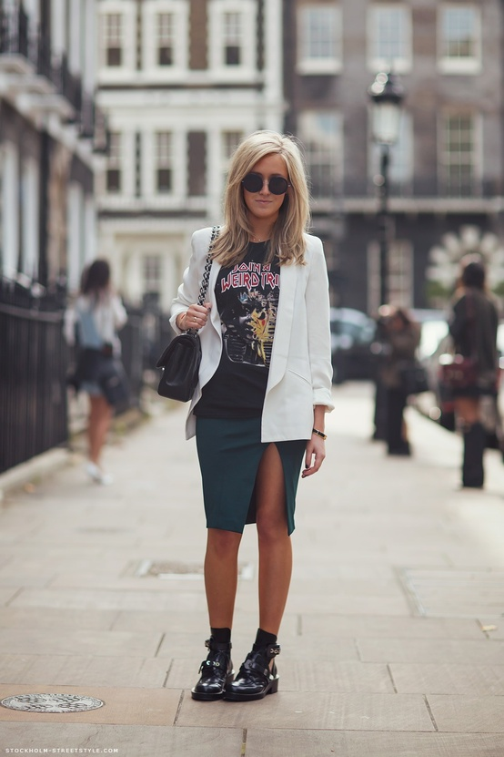 band-tee-pencil-skirt-street-style