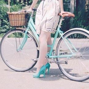 'I Ride My Bike Until I Get Home'. In Skirt &Heels?