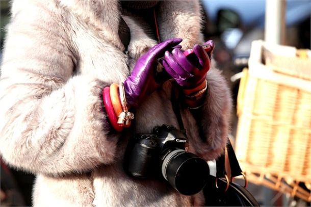 purple leather gloves-street-style