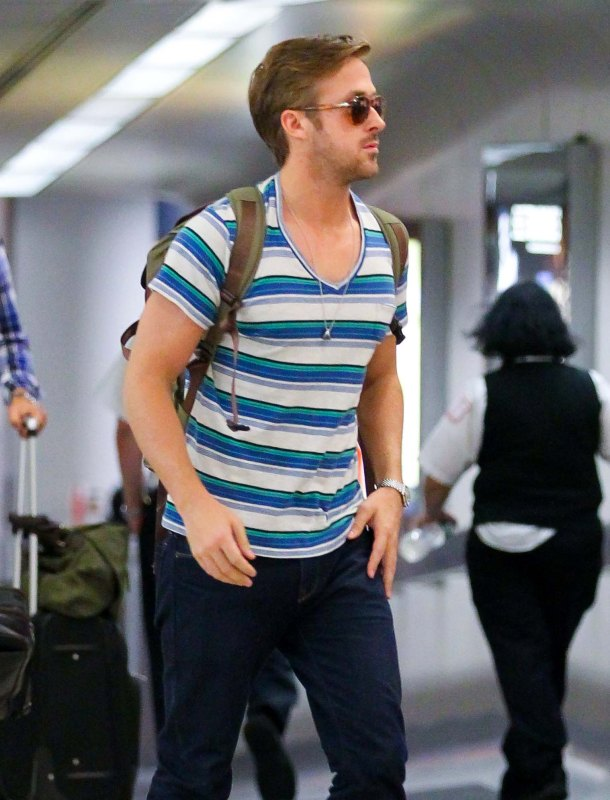 Ryan Gosling Touches Down Safely in New York
