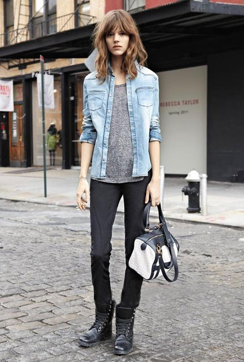 street-style-motorcycle-boots-denim-jacket