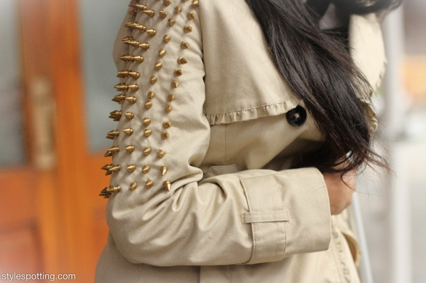 studded-sleeves-trench-coat