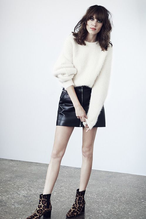 alexa-chung-leather-skirt