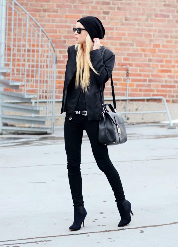 all-black-beanie-style