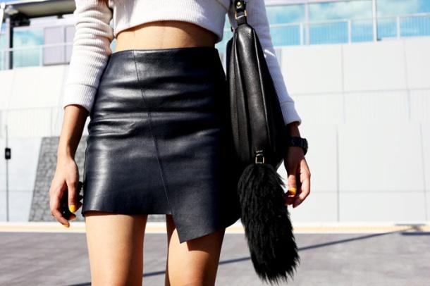 asymetric-leather-skirt