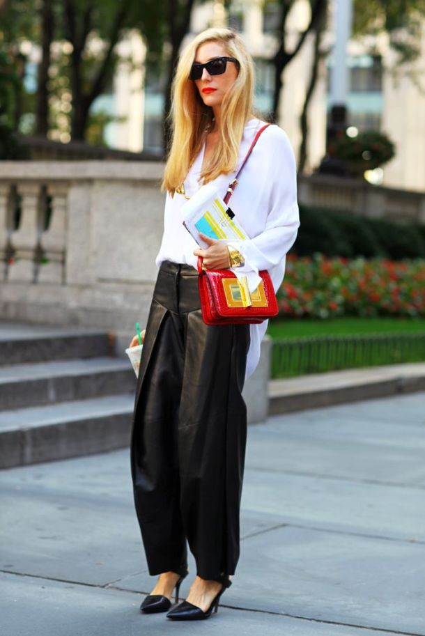 baggy-leather-pants-street-style