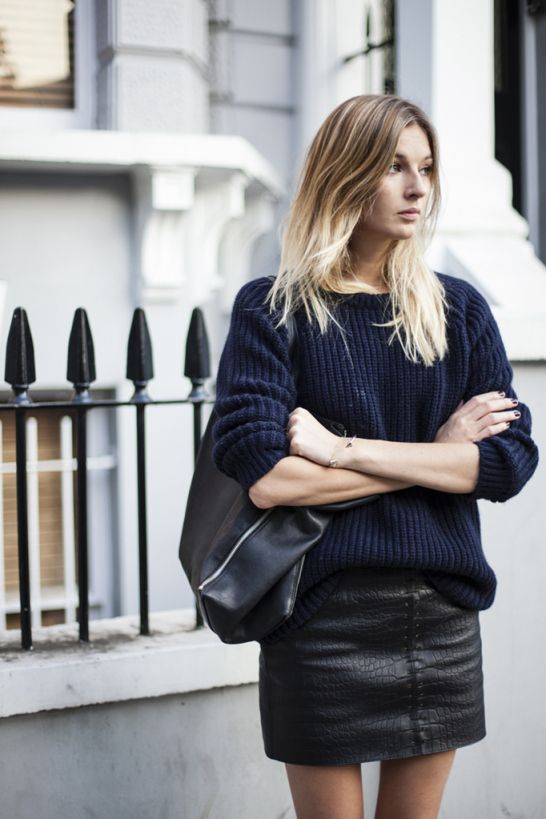 leather-skirt-sweater-look