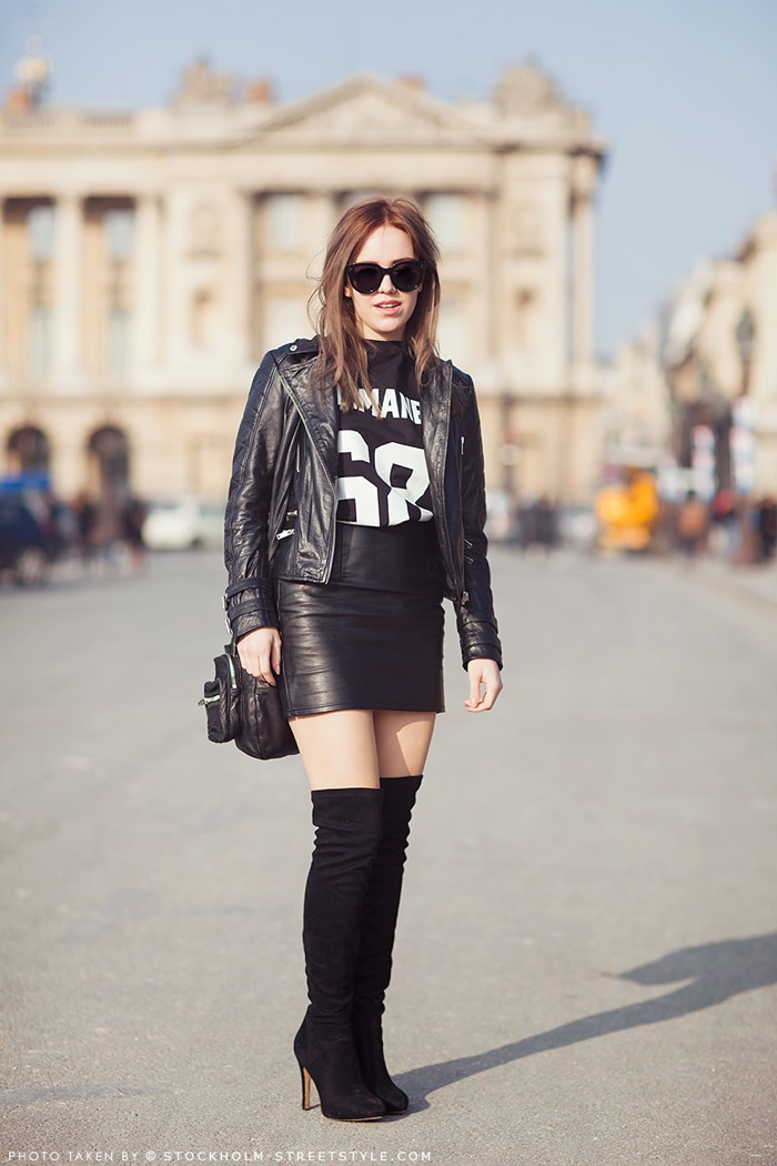 04330ac8a1 The best leather skirt look for autumn remains the glam grunge meets  sophisticated woman look. How to do it?