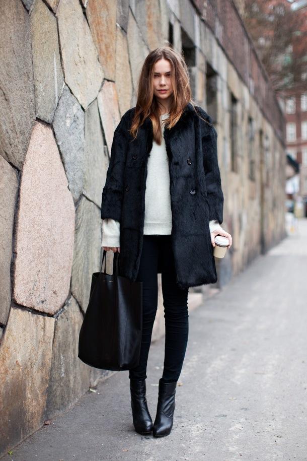 mid-sleeve-fur-coat-street-style