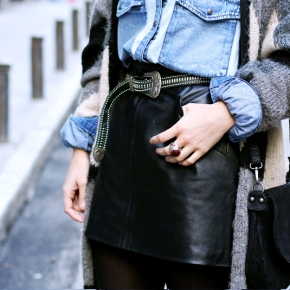 How To Style Black mini LEATHERSKIRTS?