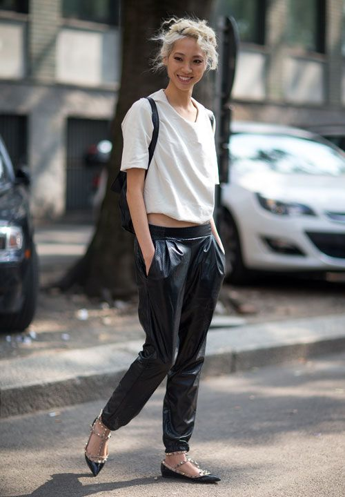 street-style-leather-sweatpantsstreet-style-leather-sweatpants