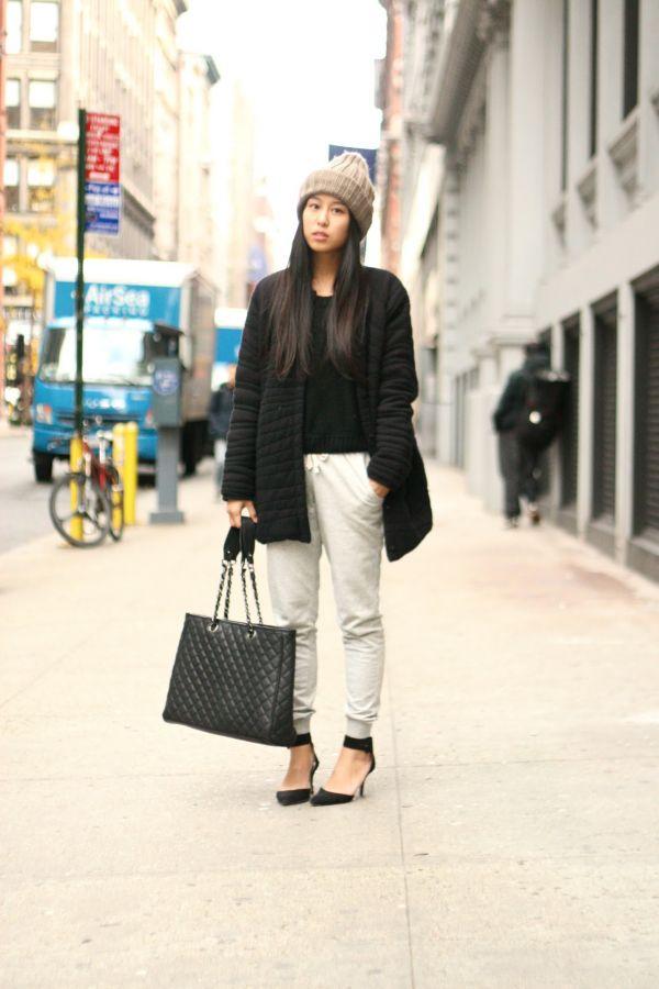 street-style-look-sweatpants-and-heels