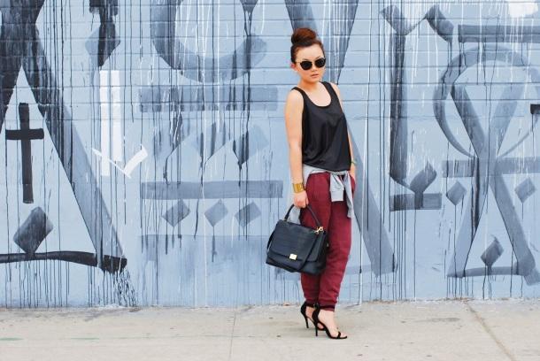sweatpants-heels-sporty-luxe-style