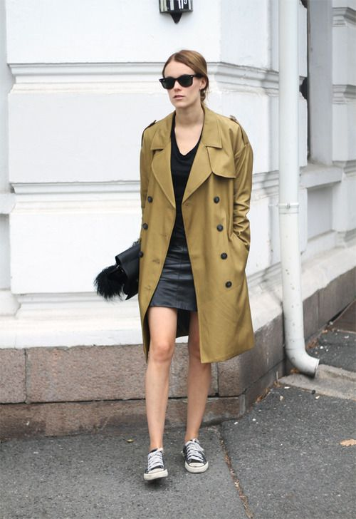trench-coat-leather-skirt
