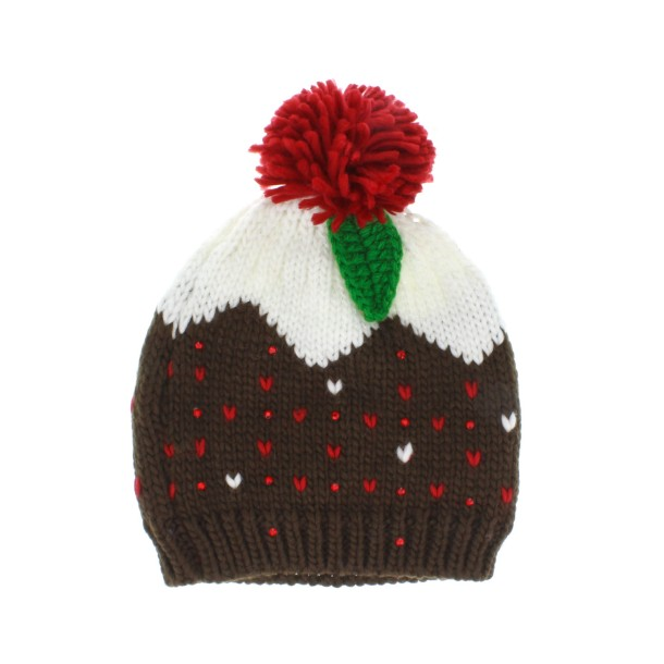 16-99-Christmas Pudding Bobble Hat