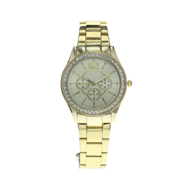 19-95-Gold Crystal Boyfriend Watch