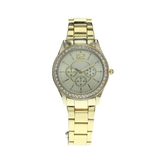 19-95-Gold Crystal Boyfriend Watch