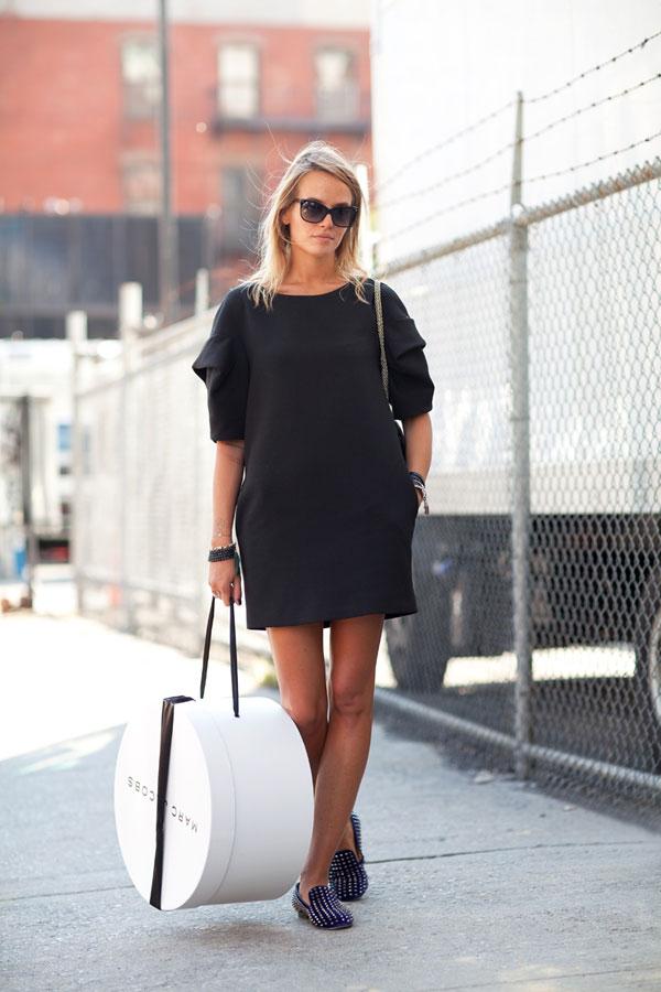 black-mini-dress-street-style