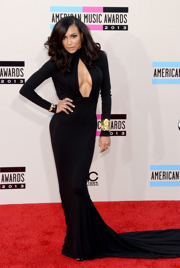 naya-rivera-2013-AMAs-red-carpet