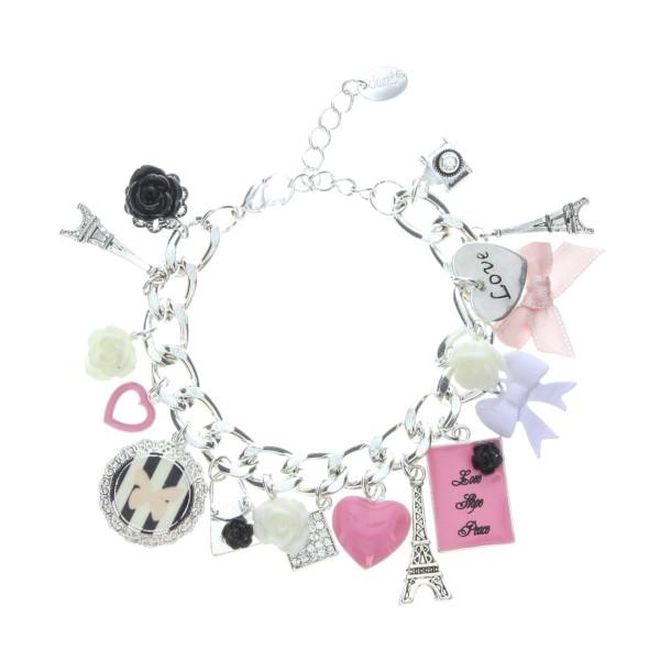 Pretty Pink Paris Charm Bracelet-8-99
