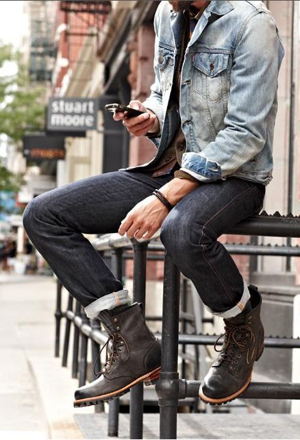 Guys Denim And Boots