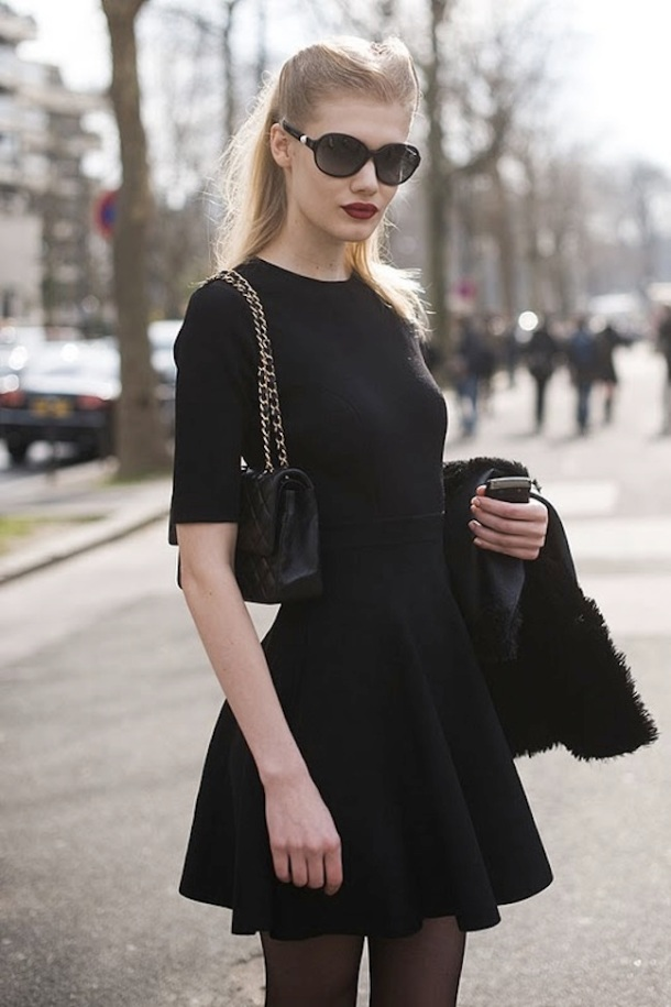 streetstyle-black-dress-look