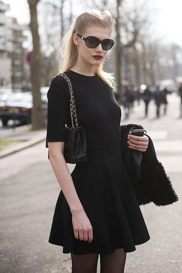 streetstyle-black-dress-look