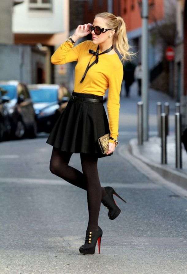 fitted-tiny-swetaer-skirt
