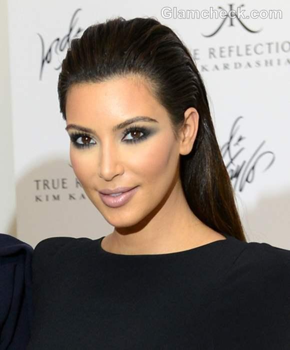 kim-kardashian-slicked-back-hairstyle-2014