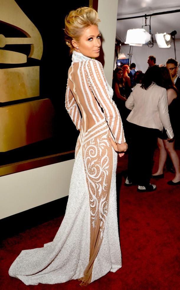 paris-hilton-2014-Grammy-red-carpet-dresses