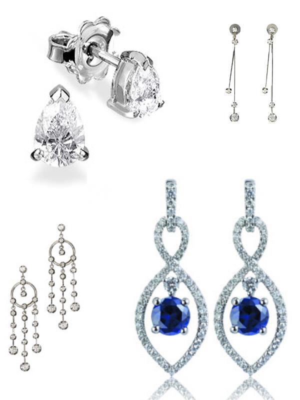 diamond earrings from Marlow's Diamonds