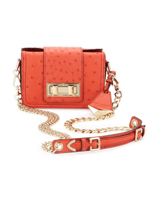 Rebecca Minkoff Collection Mini Ostrich-Embossed Box Shoulder Bag