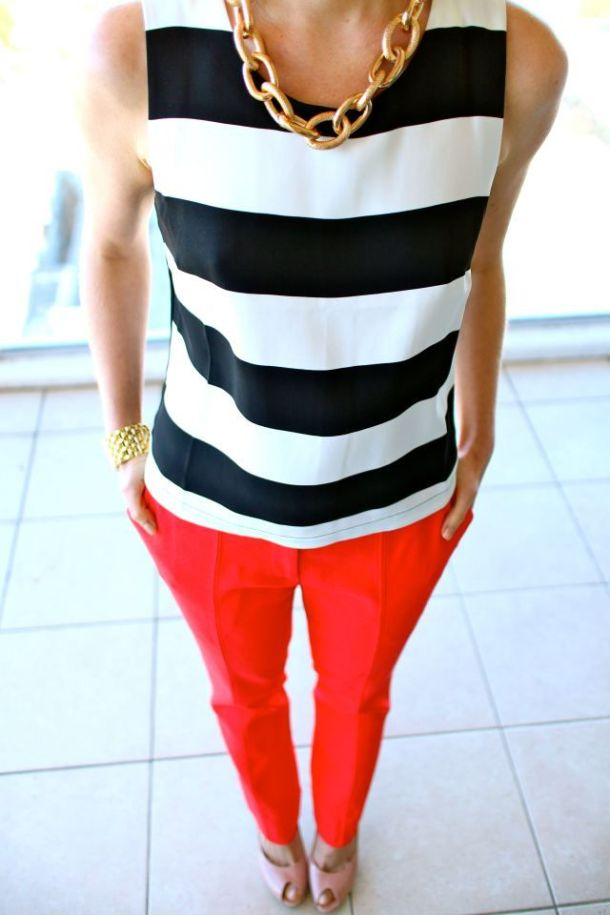 street-stye-stripped-top-red-pants
