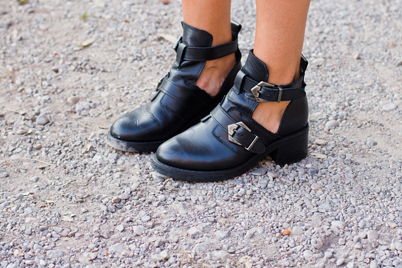 eacd9da66222 Cut-Out Buckle Booties