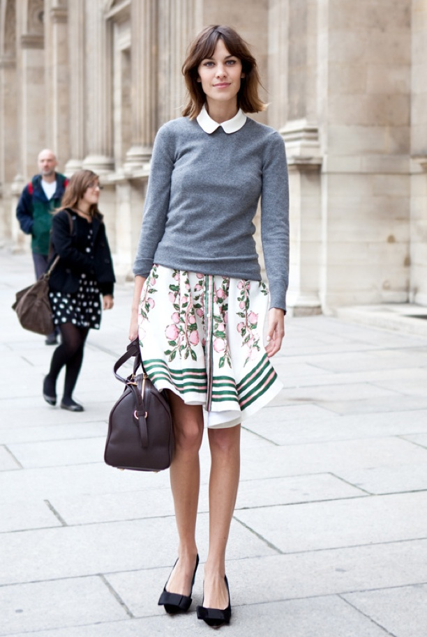 Paris Fashion Week Streetstyle, outside Louis Vuitton, Alexa Chung