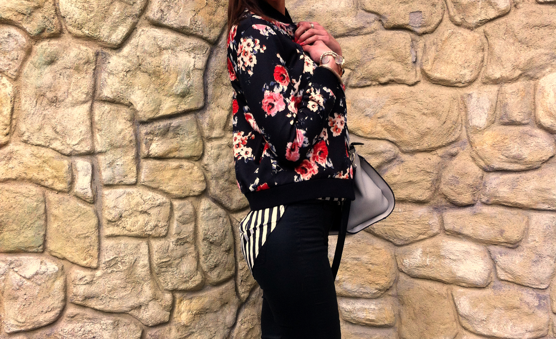 fashiontag bomber jacket Florals & Stripes
