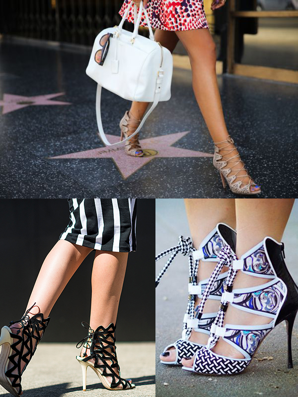 lace up heels trend