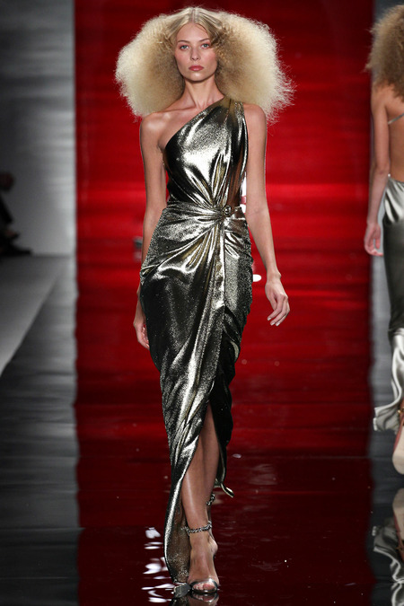 metallic-dress-look