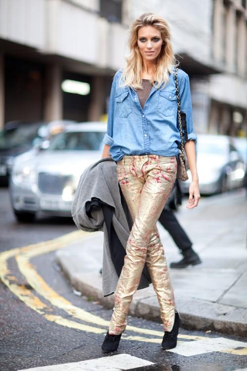metallic-jeans-street-style