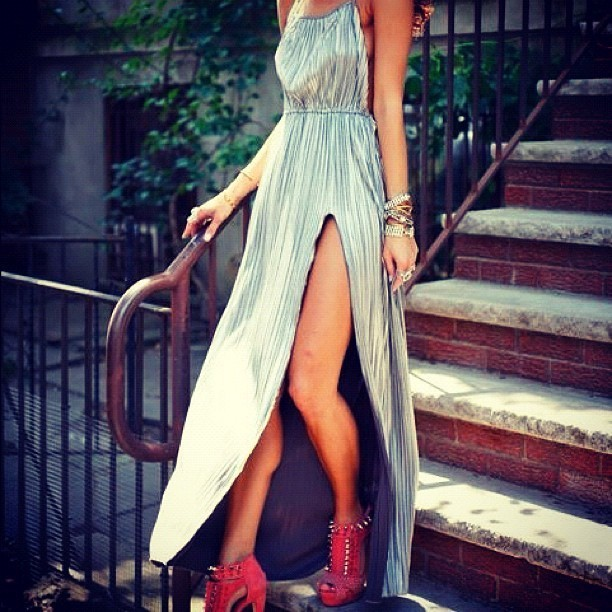 metallic-maxi-dress