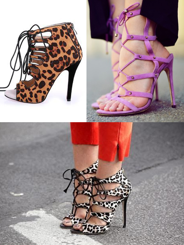 print-stiletto-lace-up